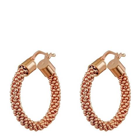 Liv Oliver Rose Gold Textured Hoop Earrings
