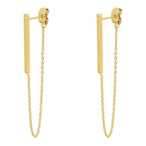Liv Oliver Gold Chain, Long Drop Earrings