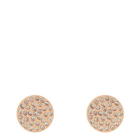 Liv Oliver Rose Gold Pave Crystal Disc Earrings