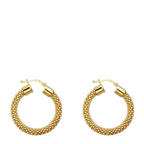 Liv Oliver Gold Textured Hoop Earrings