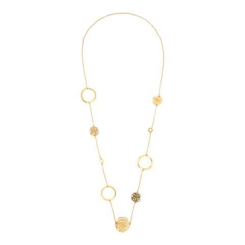 Liv Oliver Gold, Multi Rose link Necklace