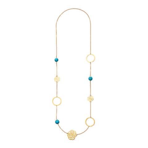 Liv Oliver Gold, Multi Coloured Link Necklace