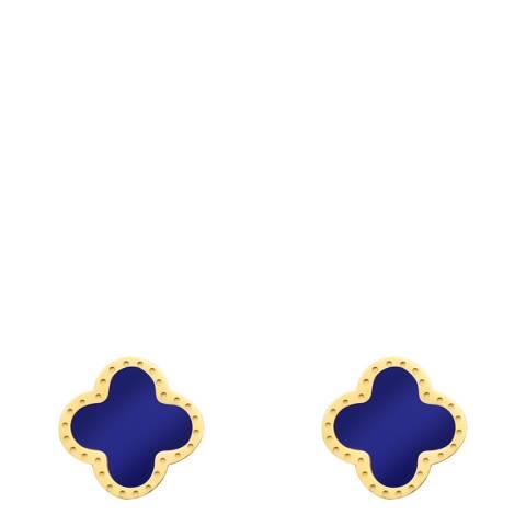 Liv Oliver Gold & Lapis Clover Earrings