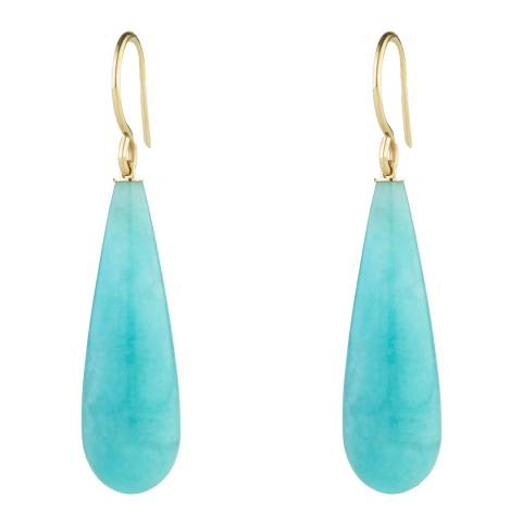Liv Oliver Gold & Turquoise Tear Drop Earrings