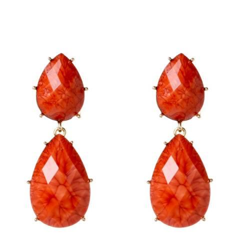 Amrita Singh Coral Teardrop Earrings