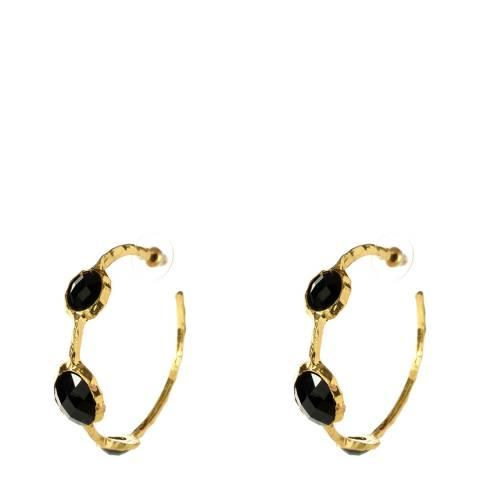 Amrita Singh Jet Black Cleopatra Hoop Earrings