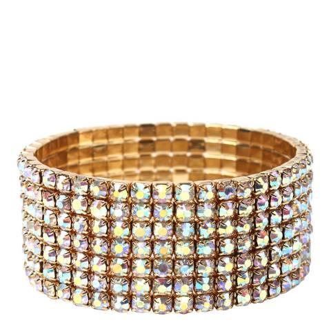 Amrita Singh Gold Crystal Stretch Bracelet