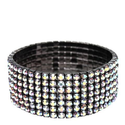 Amrita Singh Gunmetal Crystal Stretch Bracelet