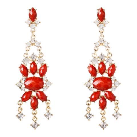 Amrita Singh Coral Mist Island Crystal Earrings