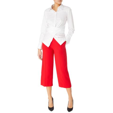 Karen Millen Red Wide Cropped Trousers
