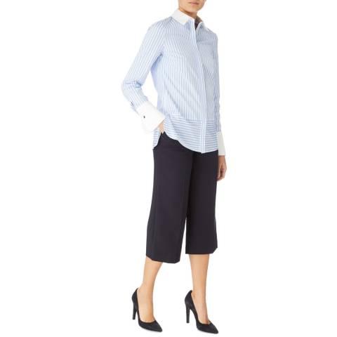 Karen Millen Navy Wide Cropped Trousers