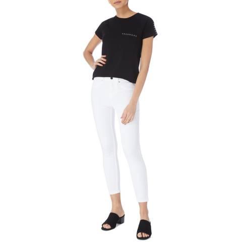 Karen Millen Black Stud Detail T-Shirt