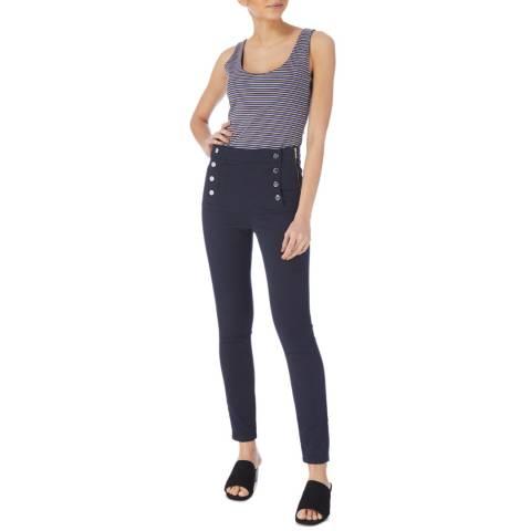 Karen Millen Indigo Button Corset Jeans