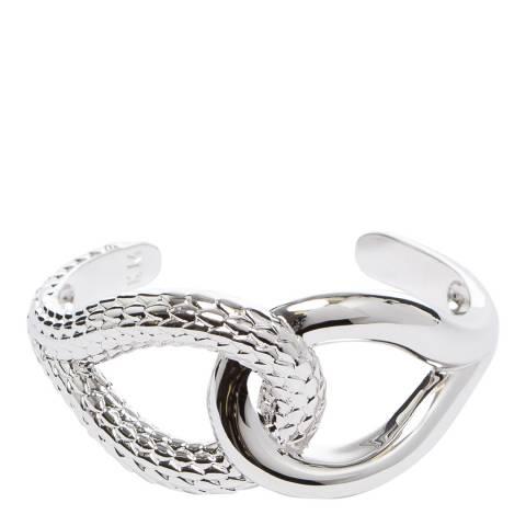 Karen Millen Silver Snake Twist Cuff