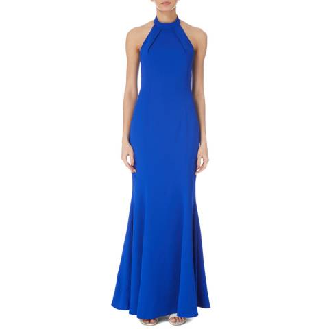 Karen Millen Blue Halter Maxi Dress