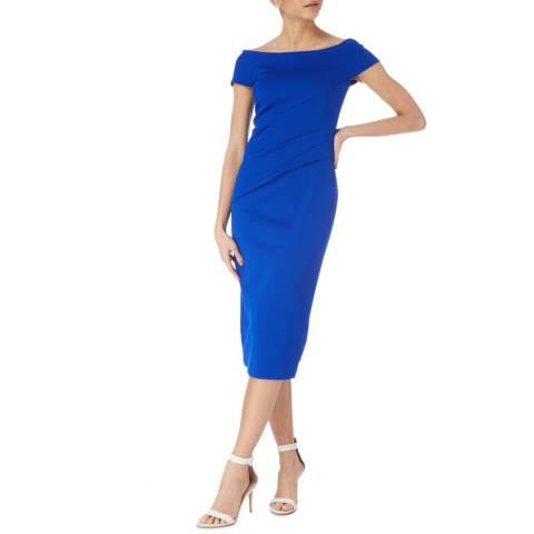 Karen Millen Blue Bardot Knit Dress