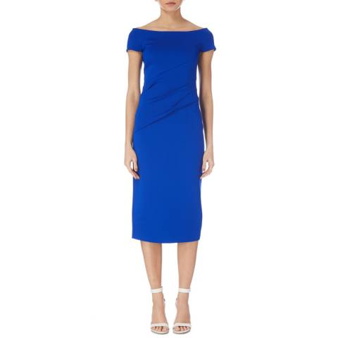 Karen Millen Blue Bardot Knit Dress