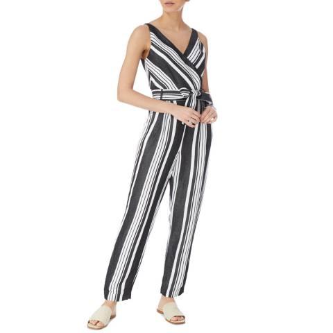 Karen Millen Black Anna Stripe Jumpsuit