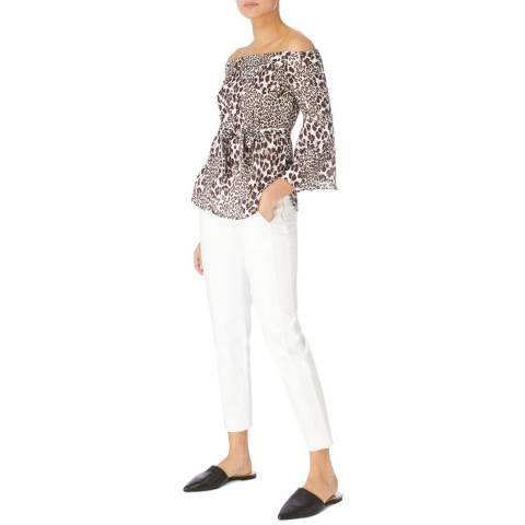 Karen Millen Multi Leopard Bardot Top