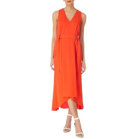 Karen Millen Red Fluid Bella Dress