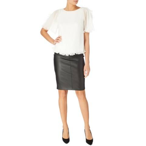 Karen Millen Ivory Ruffle Sleeve Blouse
