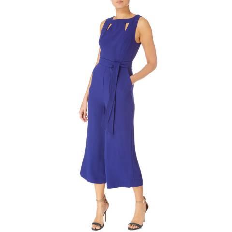 Karen Millen Blue Cut Out Detail Jumpsuit