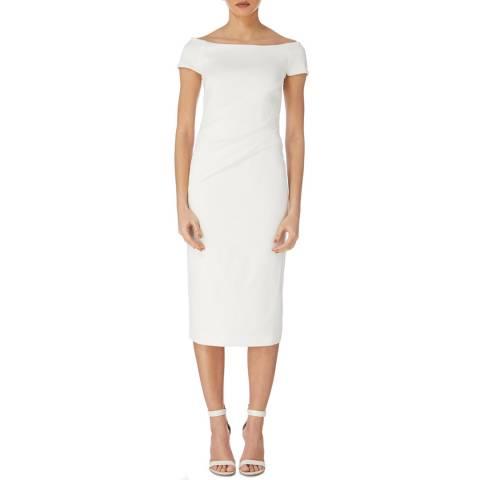 Karen Millen Ivory Highline Bardot Dress