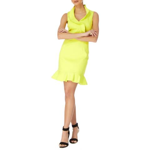 Karen Millen Lime Mini Ruffle Dress