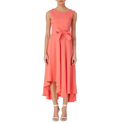 Karen Millen Pink Fluid Midi Dress