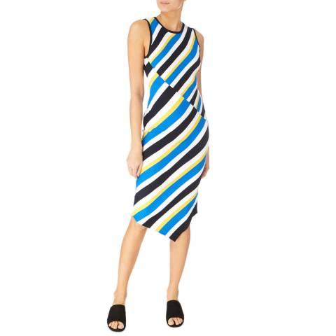 Karen Millen Multi Diagonal Ribbed Knit Dress