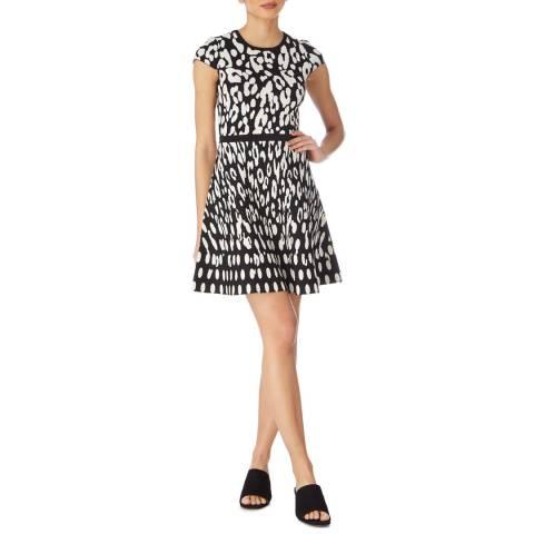 Karen Millen Black Leopard Knit Dress