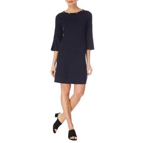 Karen Millen Dark Blue Stud Detail Dress