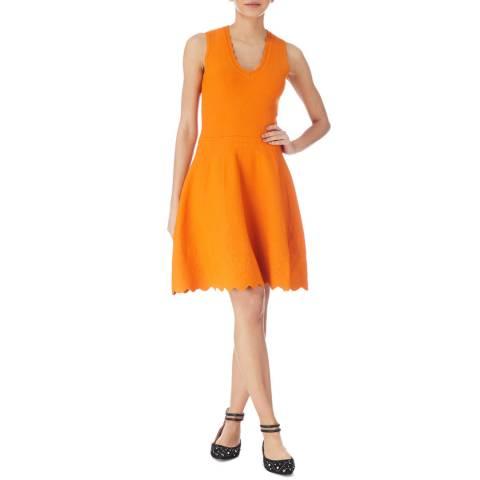 Karen Millen Orange Place Scallop Dress