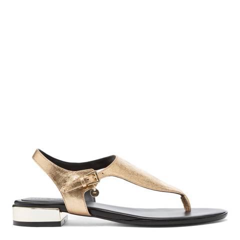 Karen Millen Gold Metal Heel Sandals