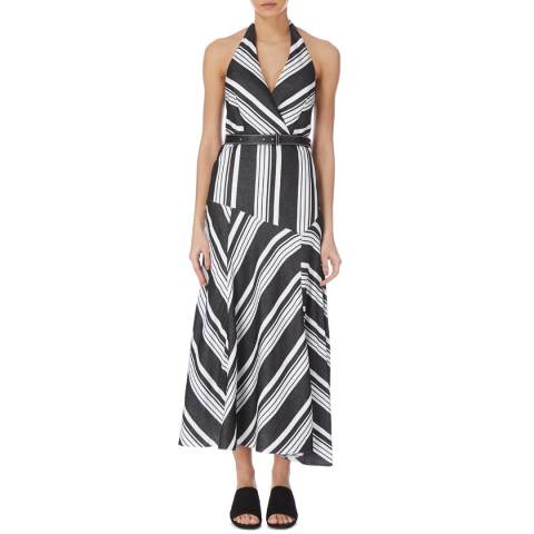 Karen Millen Black Stripe Dina Dress