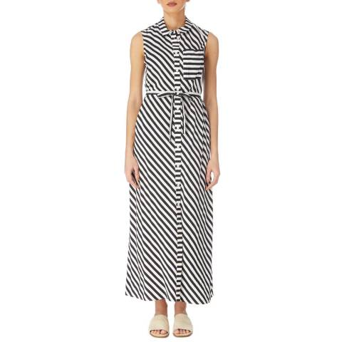 Karen Millen Black/White Diagonal Stripe Dress