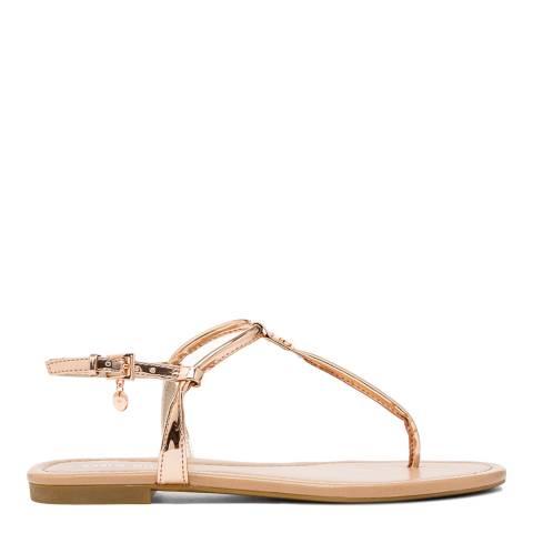 Karen Millen Blush Essential Toe Thong Sandals