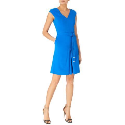 Karen Millen Blue Compact Jersey Day Dress