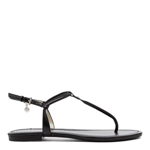 Karen Millen Black Essential Toe Thong Sandals