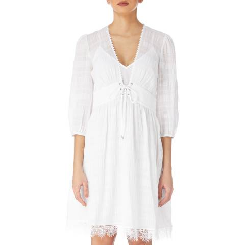 Karen Millen White Boho Cotton Dress