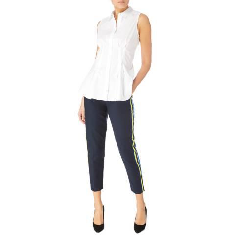 Karen Millen Navy/Multi Tailored Capri Trousers