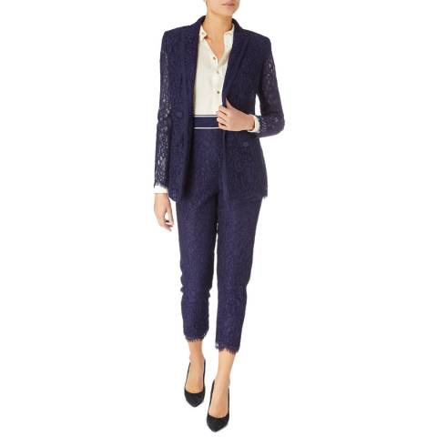 Karen Millen Dark Blue Lace Trousers