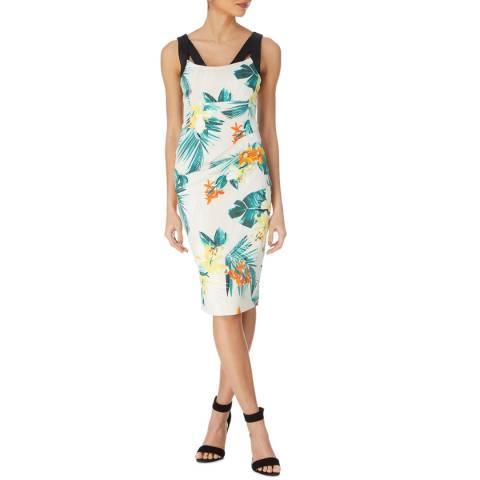 Karen Millen Tropical Palm Print Dress