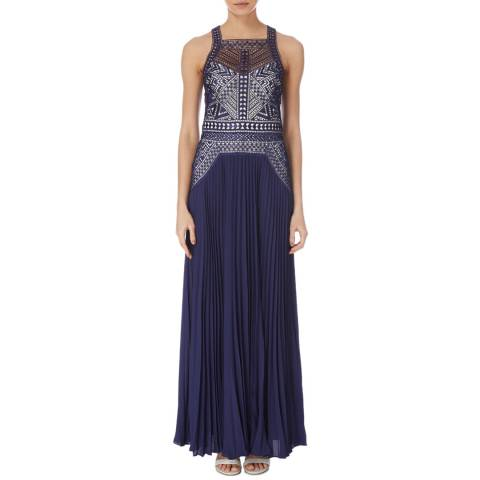 Karen Millen Navy Arabesque Lace Dress