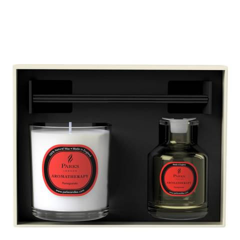 Parks London Pomegranate Aromatherapy Diffuser & Candle Set