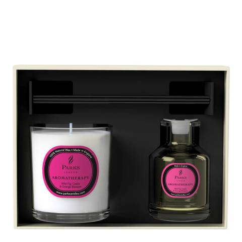 Parks London Wild Fig, Cassis & Orange Blossom Aromatherapy Diffuser & Candle Set