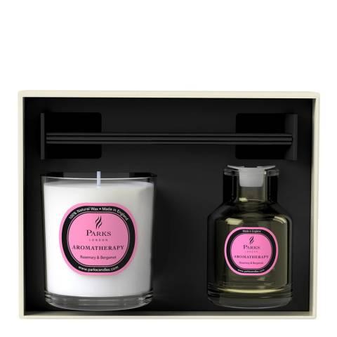 Parks London Rosemary & Bergamot Aromatherapy Diffuser & Candle Set