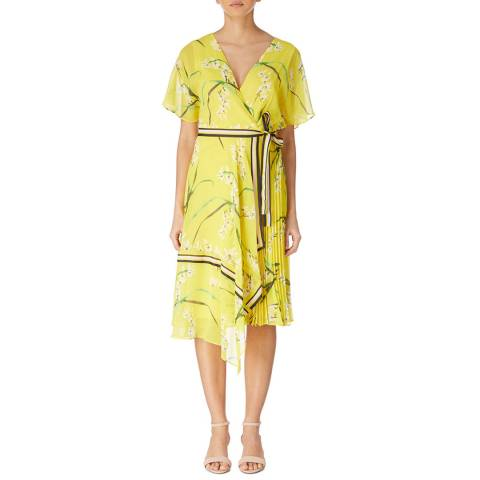 Karen Millen Yellow/Multi Oriental Floral Dress