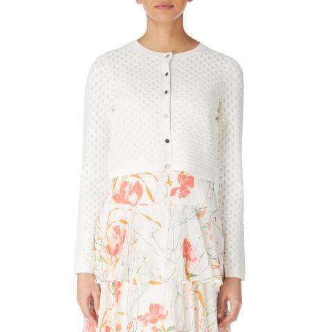 Karen Millen Ivory Modern Stitch Knit Cardigan