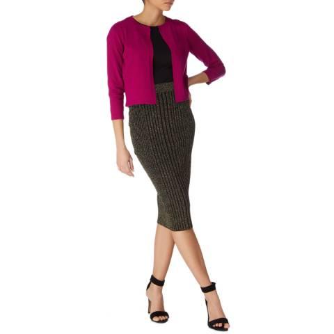 Karen Millen Magenta Essential Knit Cardigan